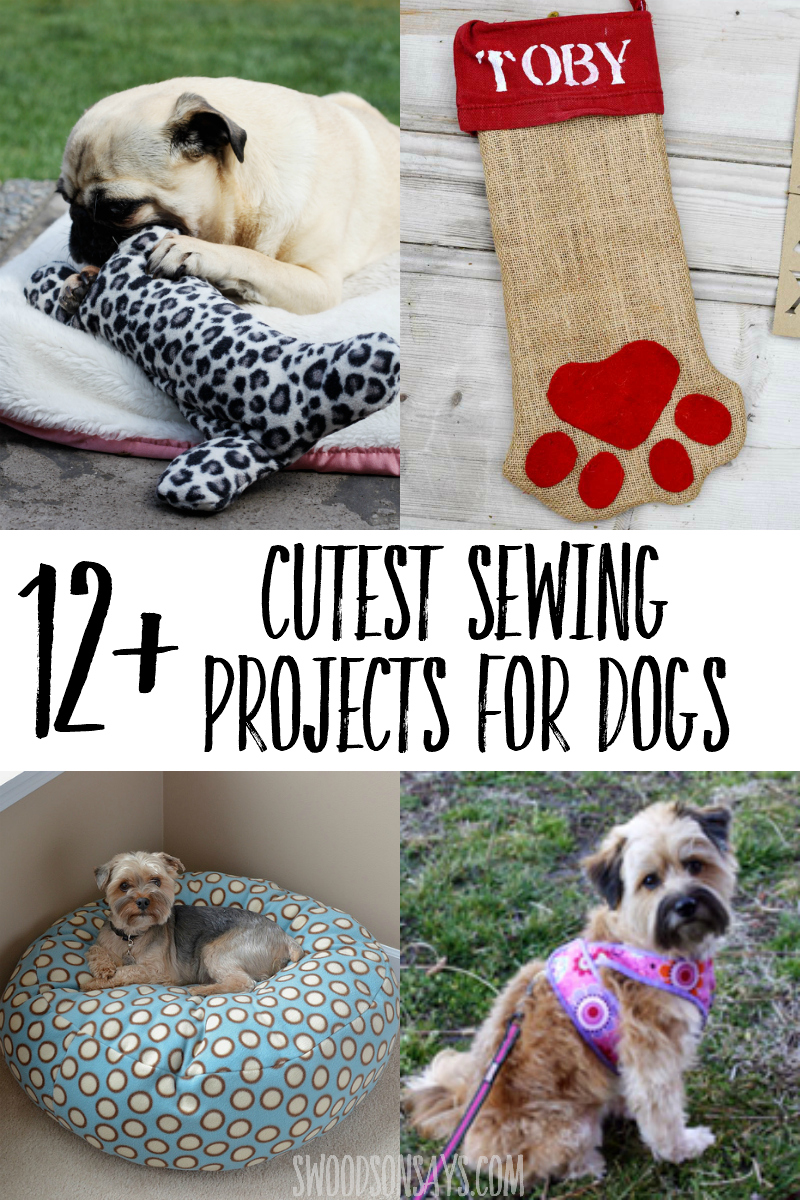Sew for your canine companion with these creative sewing projects for dogs! Dog sewing projects are good for beginners and fun to make. #sewing #dog