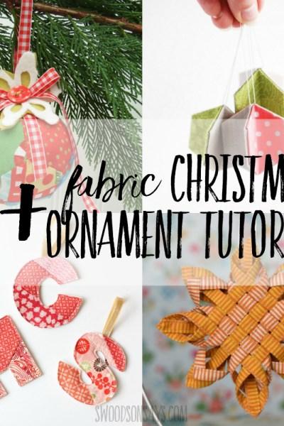 fabric Christmas ornaments tutorials