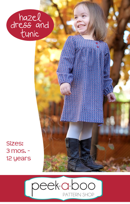 flannel girls dress sewing pattern