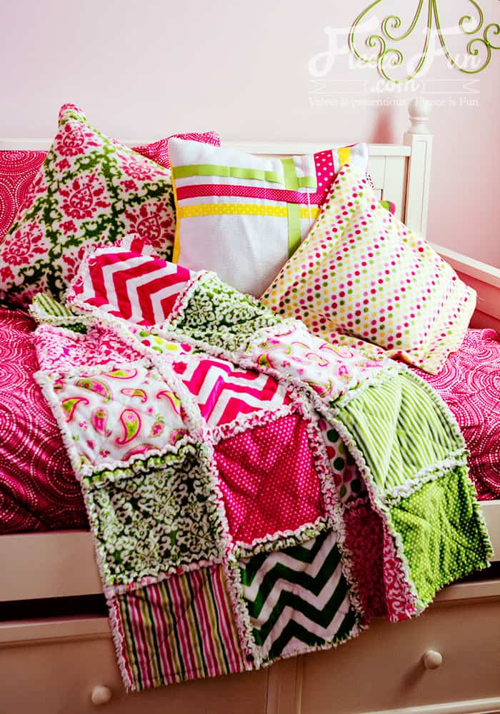 flannel rag quilt sewing tutorial