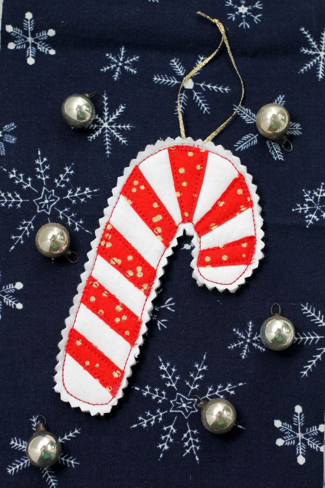 free candy cane ornament pattern