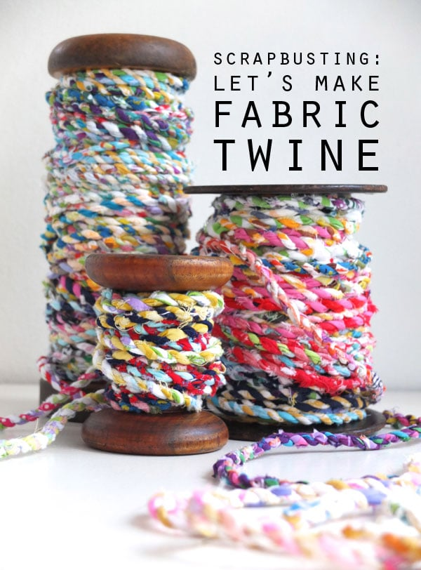 how to make fabric scrap twine