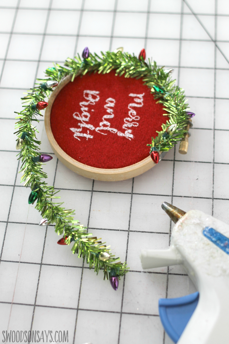 step 5 christmas craft hot glue gun