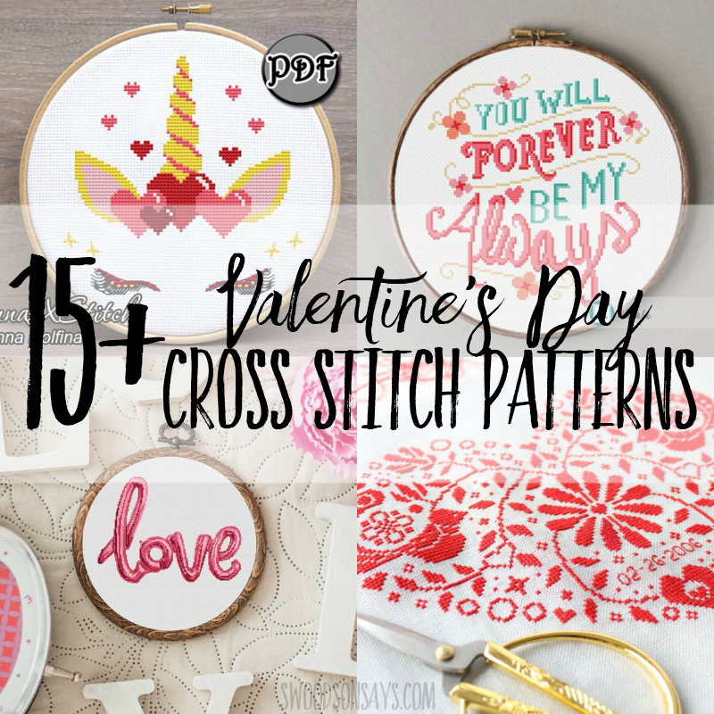 15+ Valentine cross stitch patterns