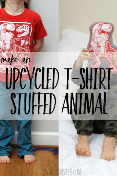 How to upcycle a t-shirt into a stuffed animal