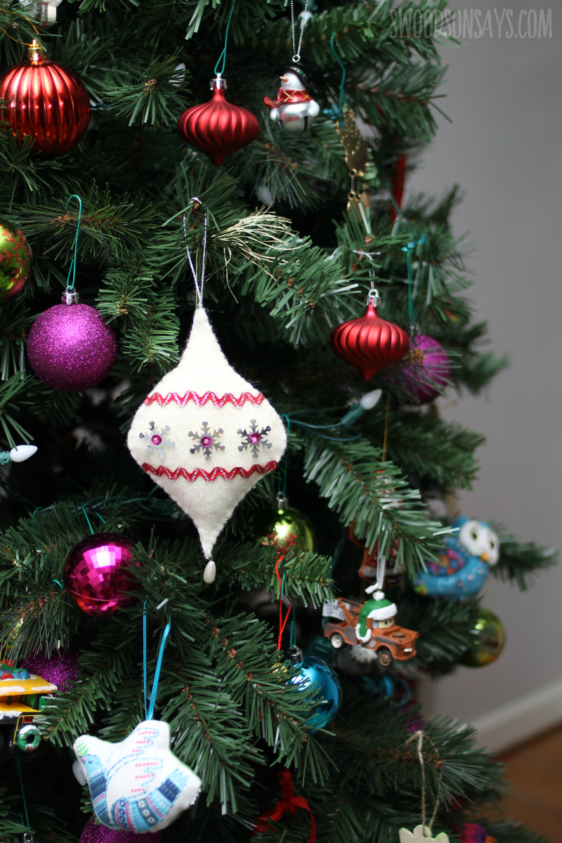 old sweater ornament diy