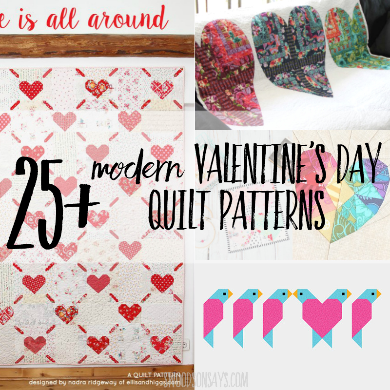 25 Valentine Quilt Patterns Swoodson Says