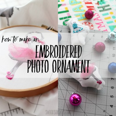 embroidered photo ornament diy tutorial
