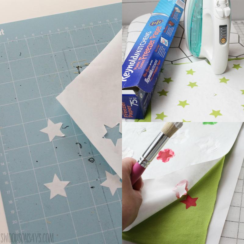 fabric stencil freezer paper