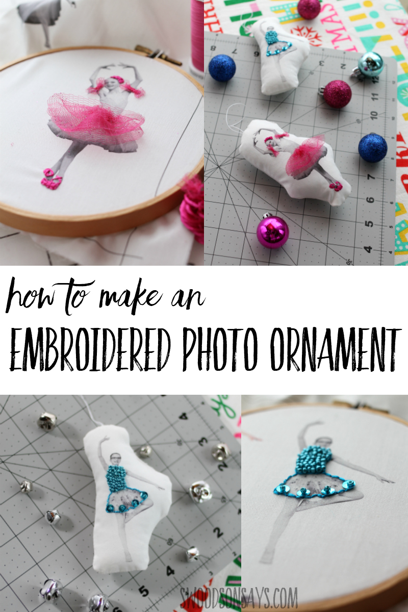 Make a super fun, personalized ornament this year with printable fabric! Follow this tutorial for inspiration on turning your family photos into DIY modern Christmas ornaments. This is such a fun Christmas craft for adults to make!