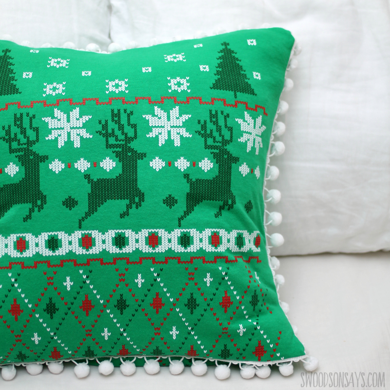 modern christmas pillow sewing
