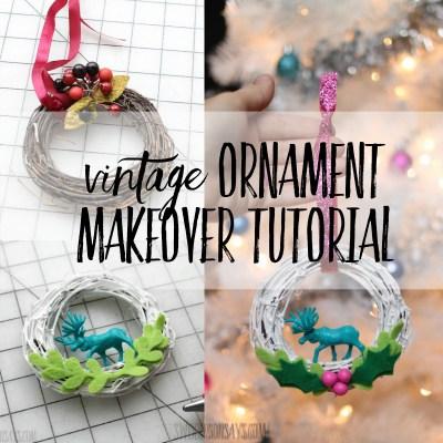 vintage ornament makeover tutorial
