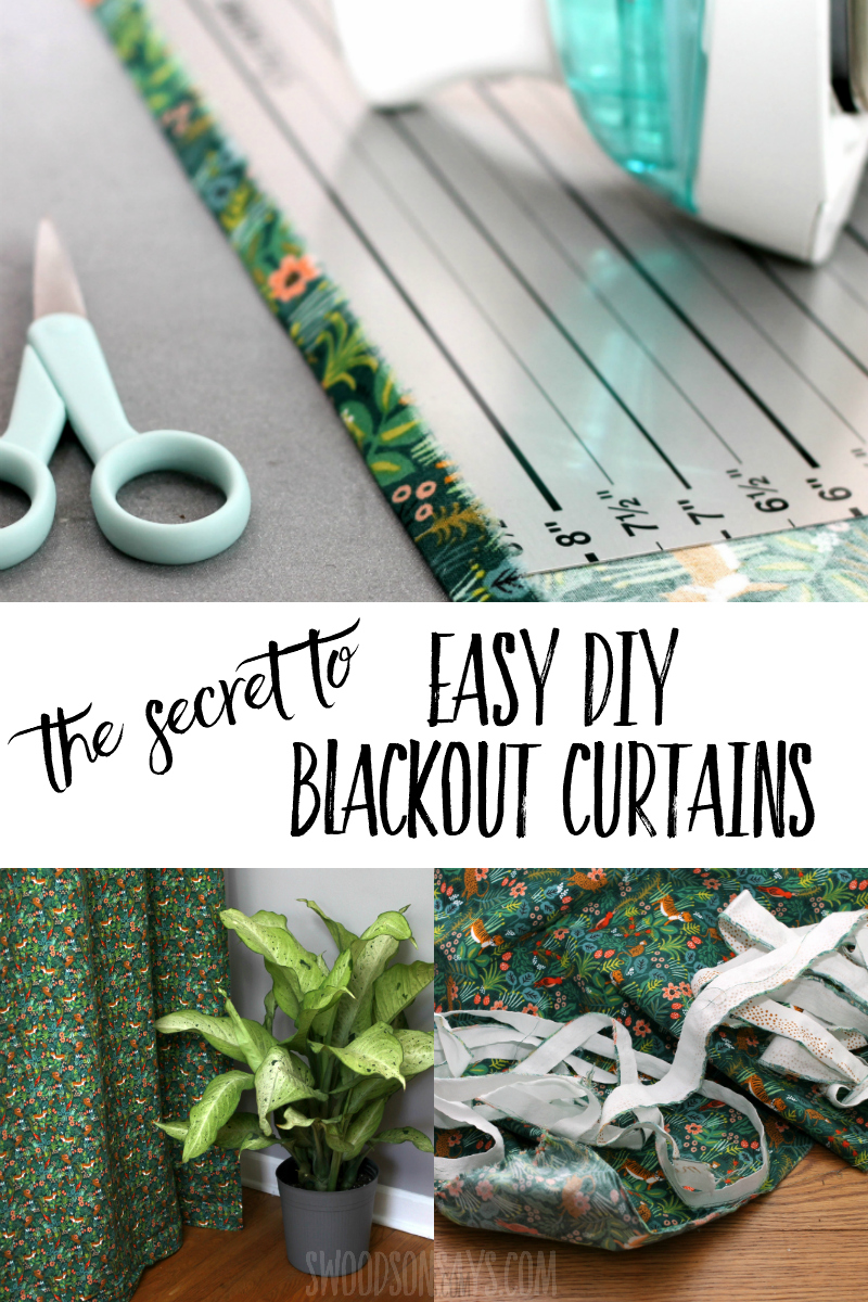 The secret to easy blackout curtains! Click through and read the two ways to make sewing your own curtains way easier, even if you don't have a huge cutting table. Great sewing tutorial for beginners. #sewing #homedecor #diy