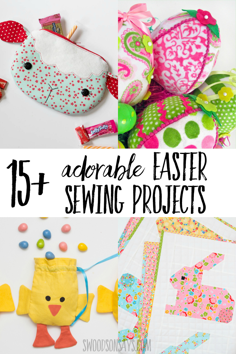 Start your spring with some fun fabric crafts - pick one of these easy Easter sewing projects! Full of bunnies, chicks, eggs, and bright colors; this list is chock full of fun sewing tutorials for Easter. #sewing #easter