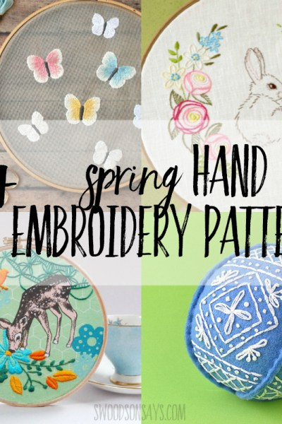 spring hand embroidery patterns