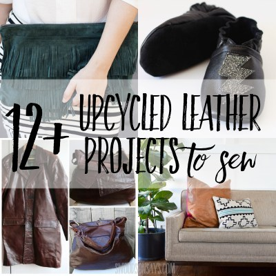 12+ recycled leather projects to sew