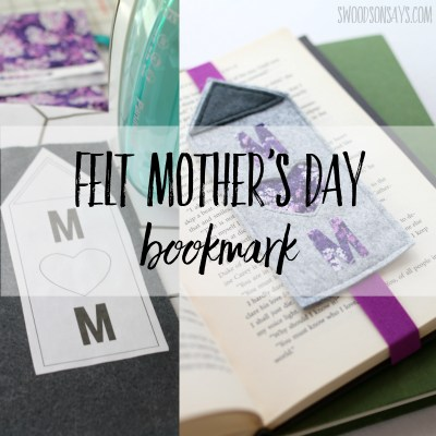 Felt Mother's day bookmark craft