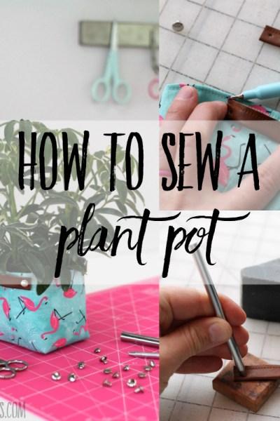 Round fabric basket tutorial