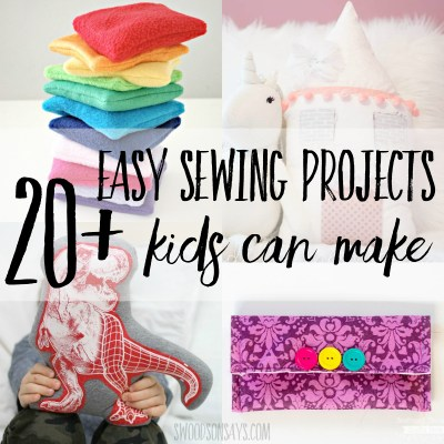 20+ easy sewing projects for kids