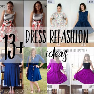 thrift store dress refashion tutorials