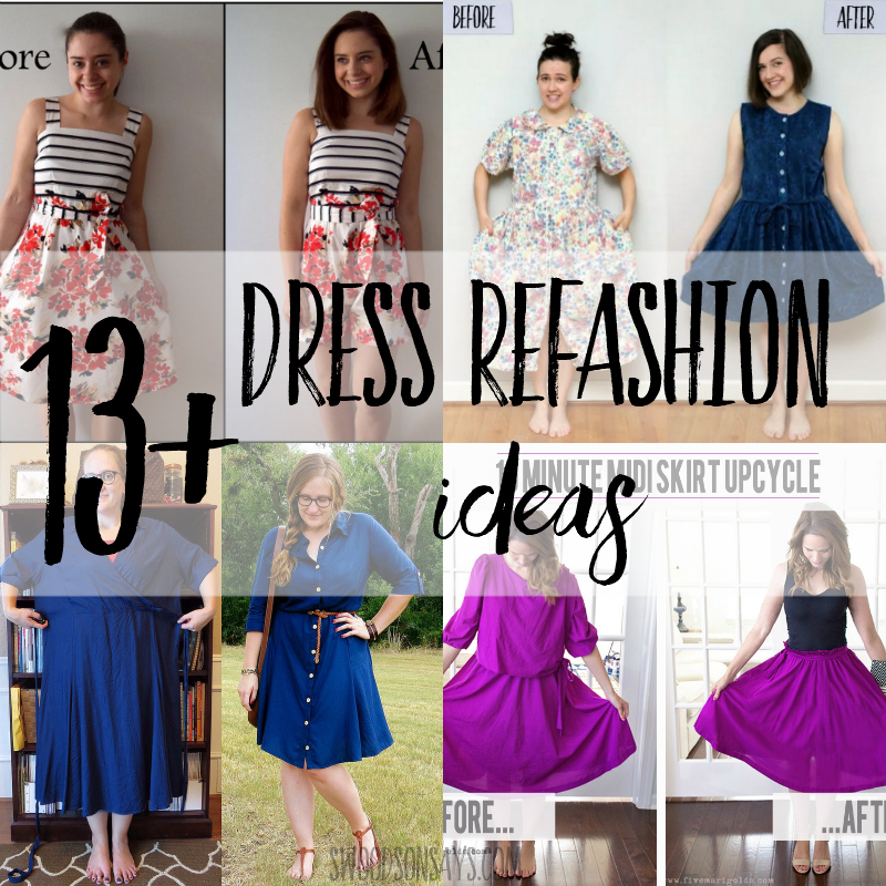 thrift store dress refashion tutorials