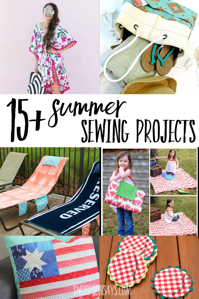 collage of summer sewing tutorials