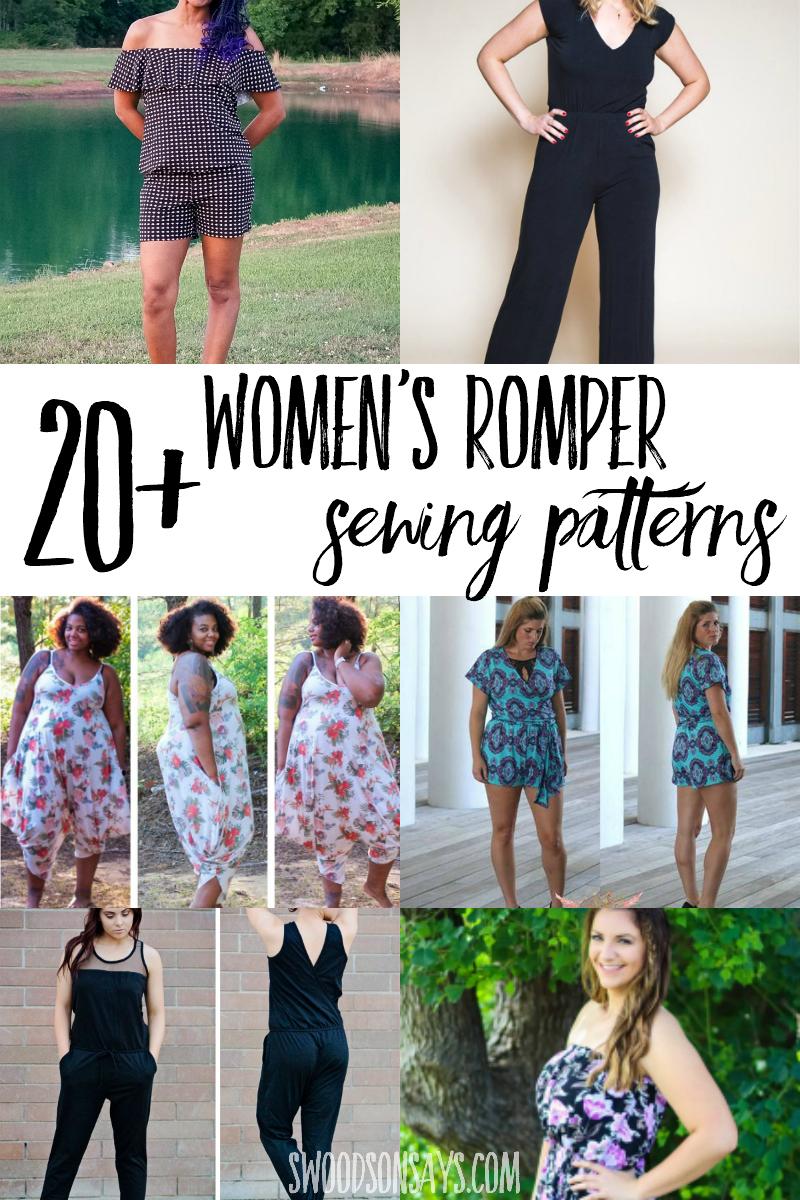 womens romper patterns