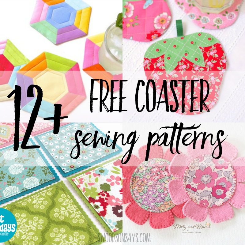 12 ways to sew coasters