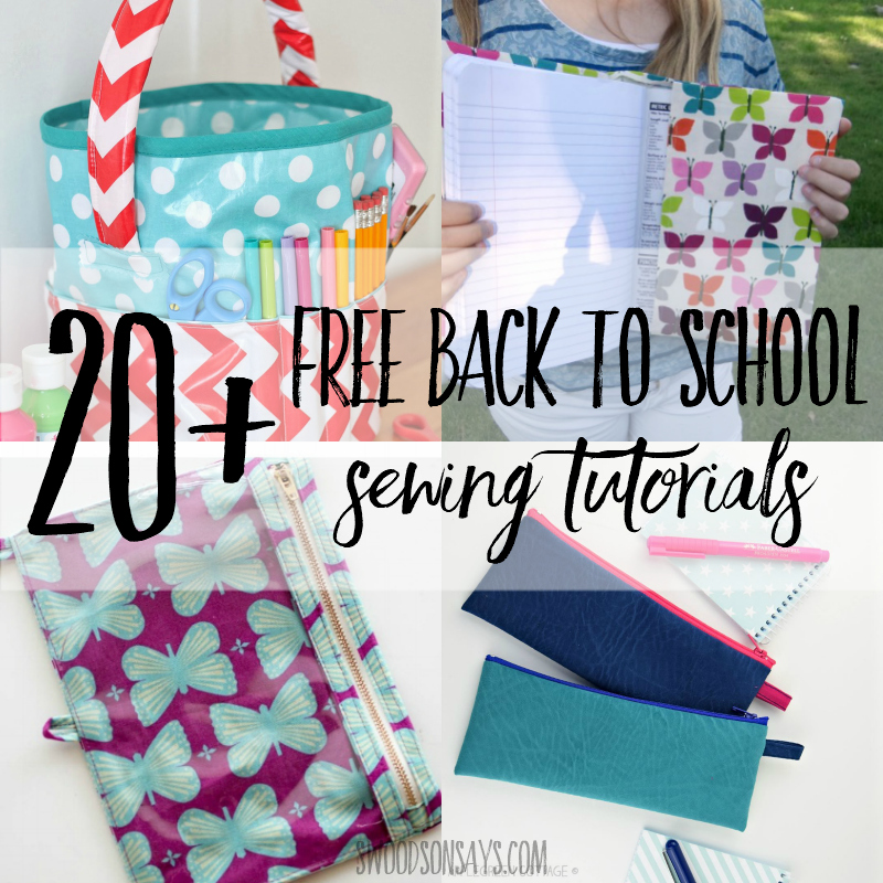back to school sewing tutorials