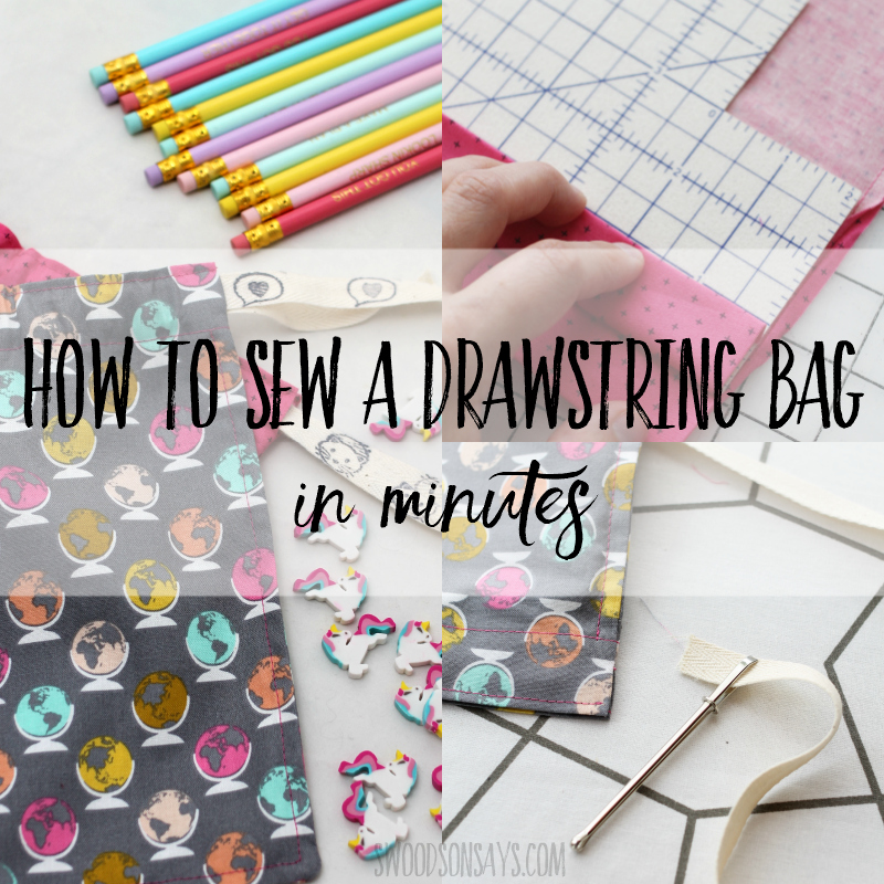 vhow to sew a drawstring bag in minutes