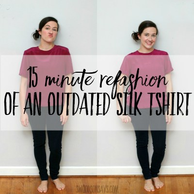 refashion with no sewing machine