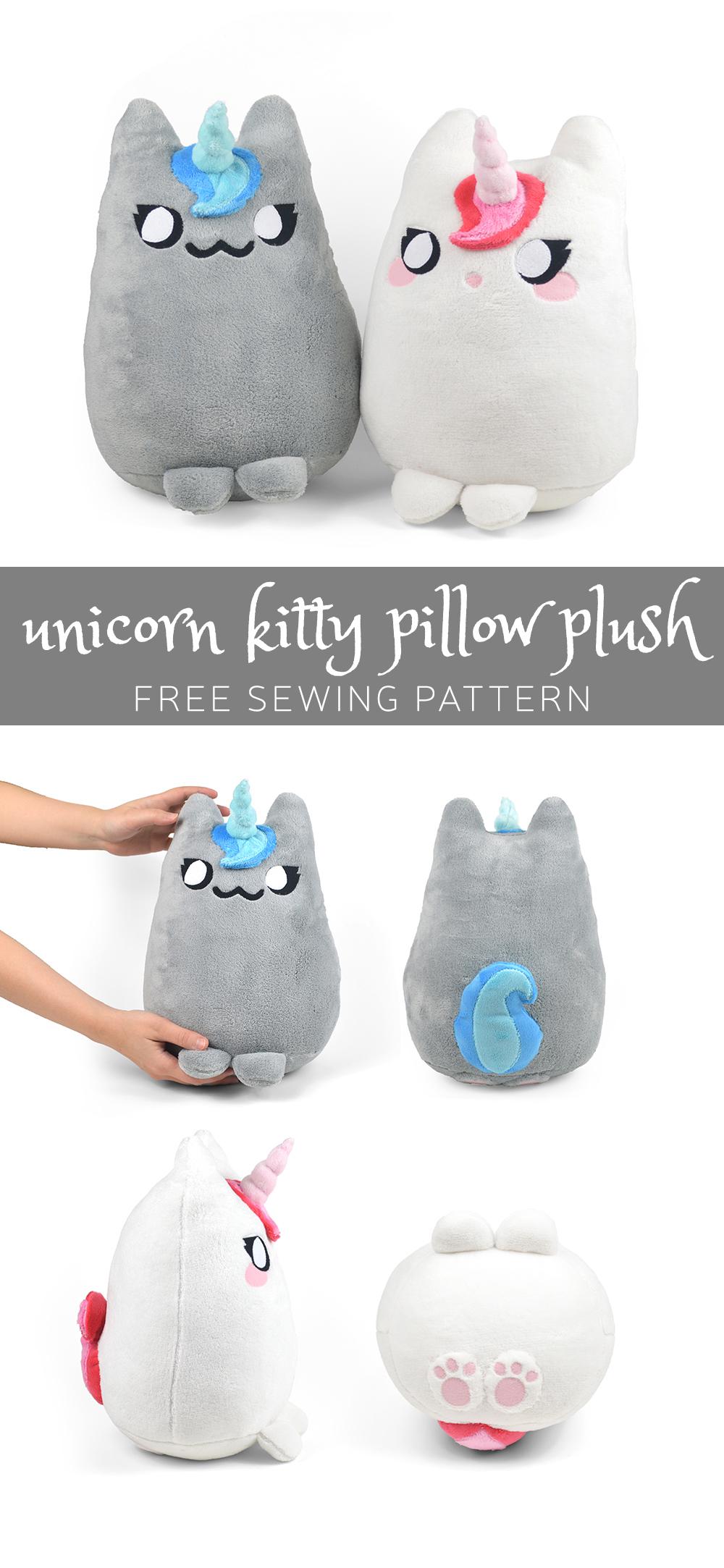 free unicorn kitty pattern