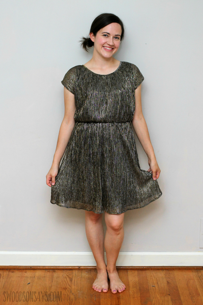 refashioned party dress tutorial