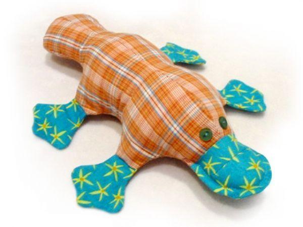stuffed platypus sewing pattern