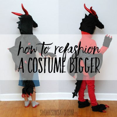 How to refashion a costume into a bigger size