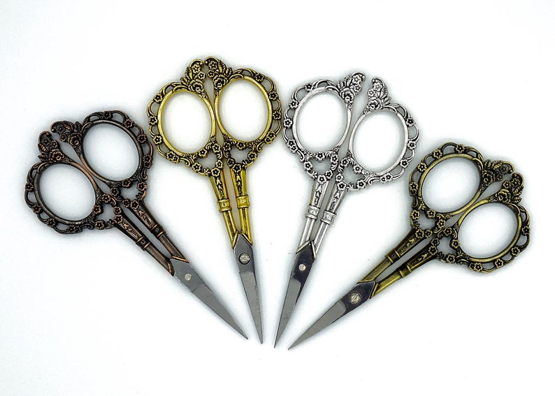 intricate flowery scissors