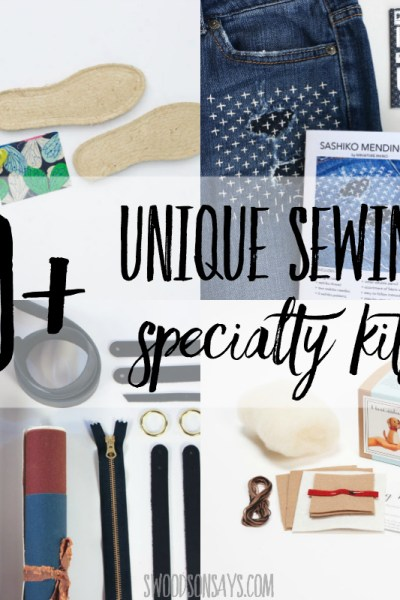 10+ unique sewing specialty kits to gift