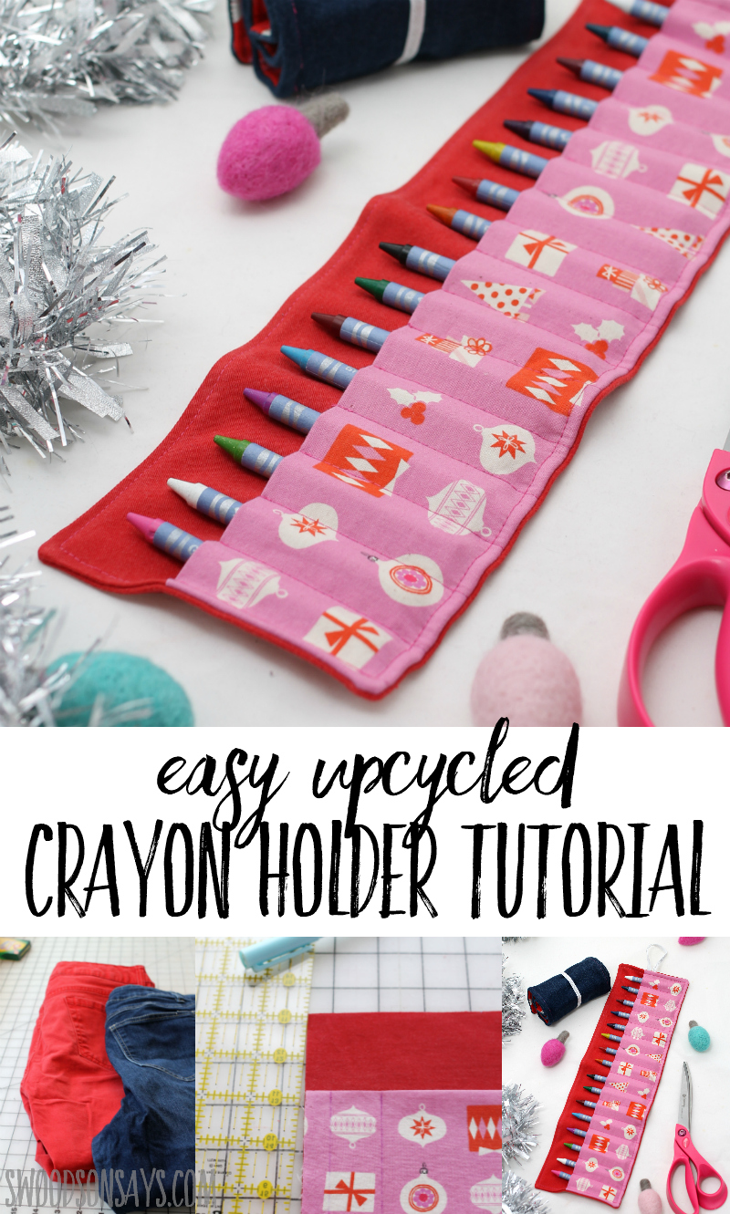 how to sew a crayon roll