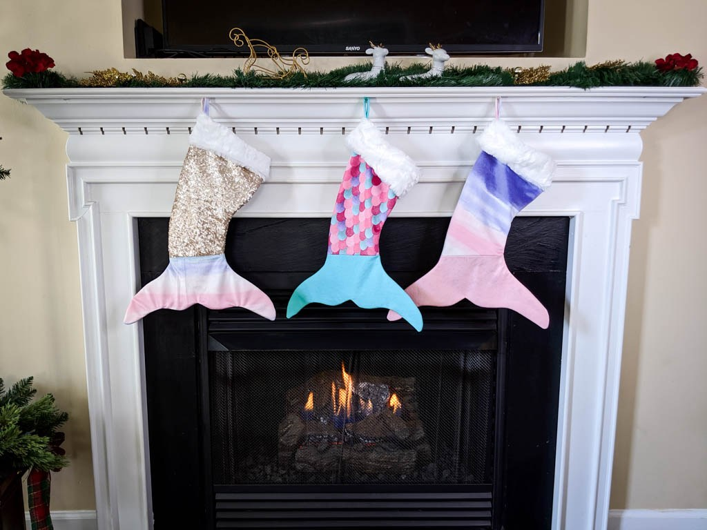 free mermaid tail stocking pattern