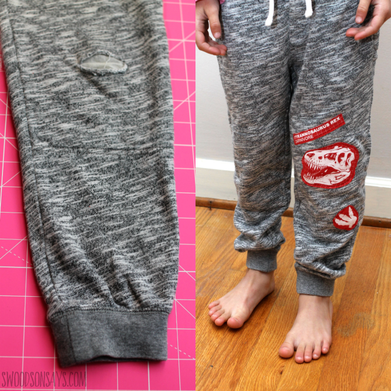 upcycle patch pants diy