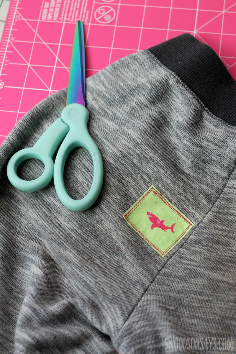 upcycled patch method mending