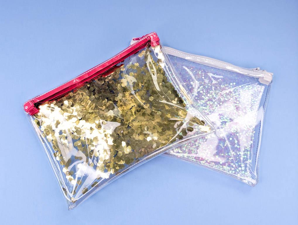 free glittery vinyl zipper bag pattern