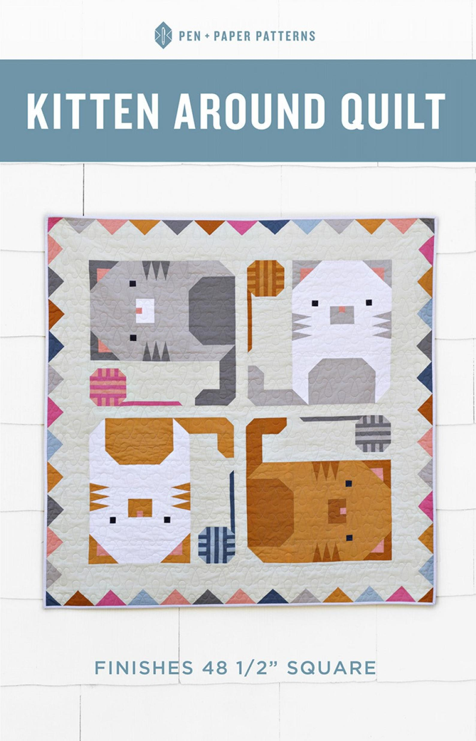 cat mini quilt pattern