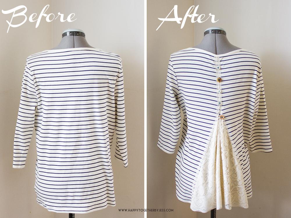 lace back shirt refashion