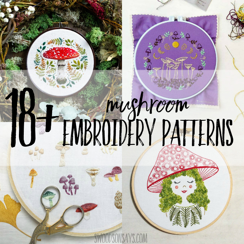 18+ mushroom embroidery patterns