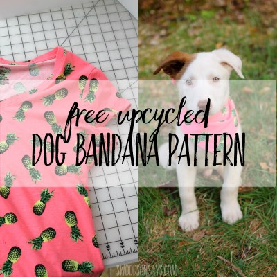 DIY dog bandana pattern