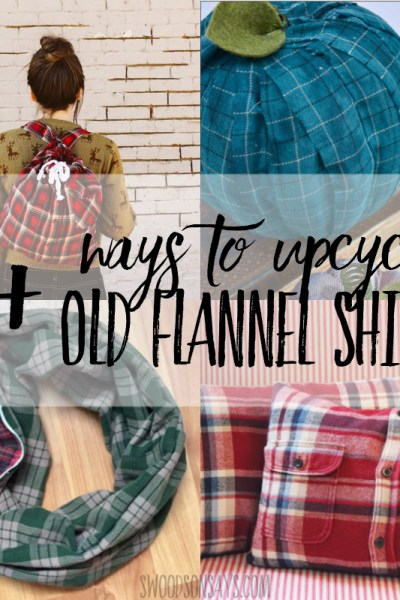 Upcycled flannel shirts - 15+ creative ideas