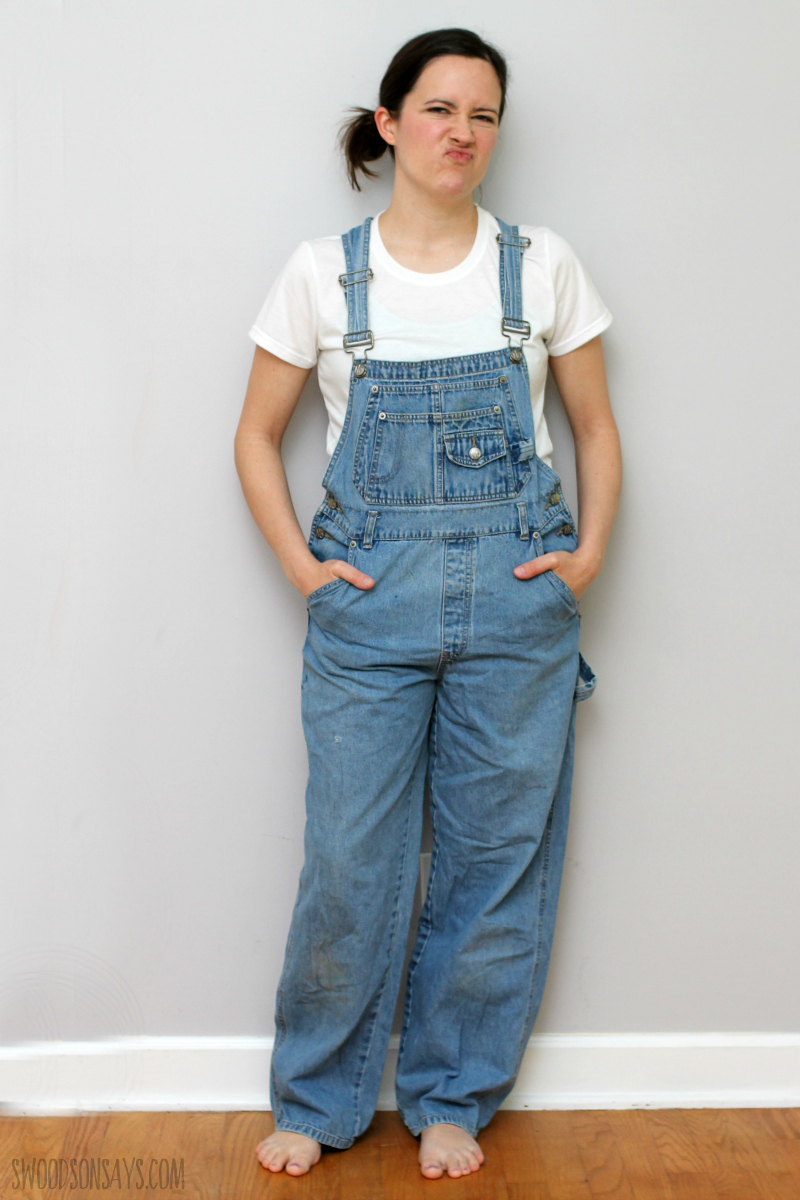 refashion overalls before