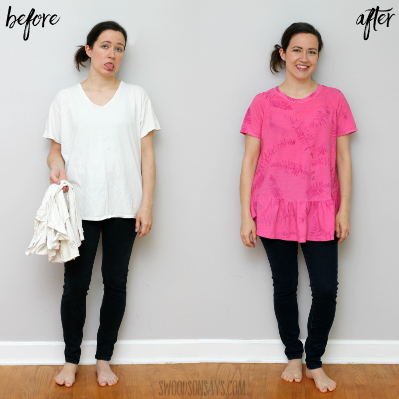 white tshirt refashion