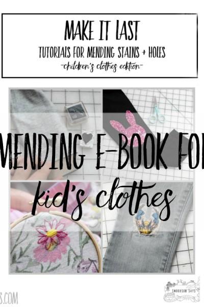 tutorials to mend kid's clothes